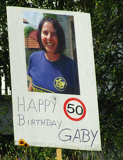 Happy Birthday Gaby 50 Jahre