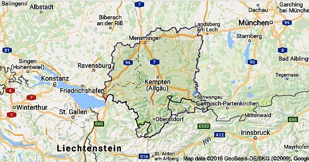 karte allgäu Wir sind Allgäuer! Keine SCHWABEN!   Staatsgrenze Bayern   Baden  karte allgäu